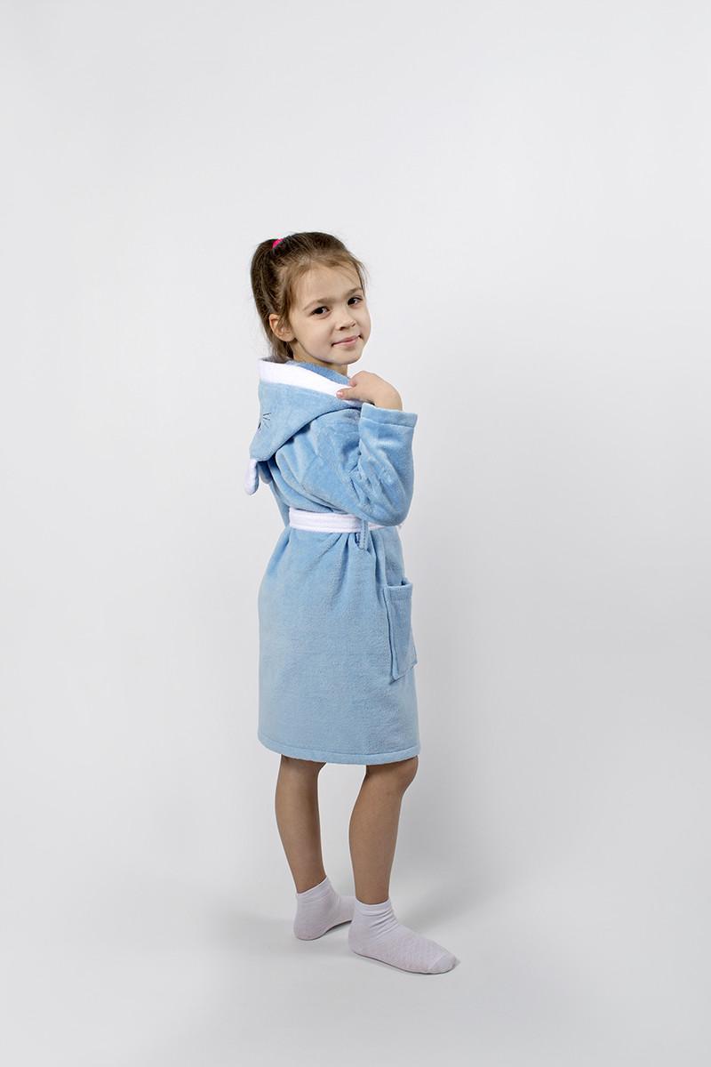 Халат детский Lotus - Зайка новый 11-12 лет голубой