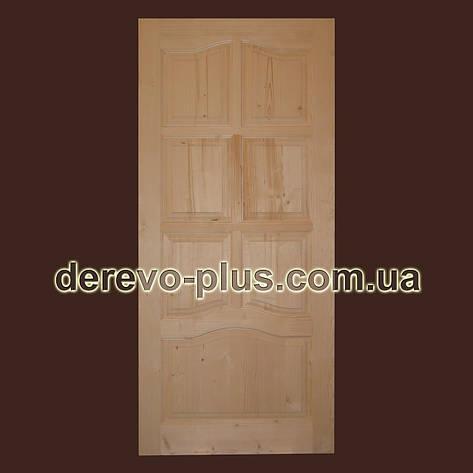 Двері з масиву дерева 90см (глухі) f_1190, фото 2