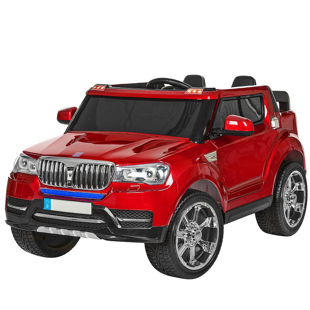 Детский электромобиль Джип M 3107EBLRS-3 крашеный красный
