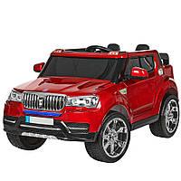 Детский электромобиль Джип M 3107EBLRS-3 крашеный красный, фото 1