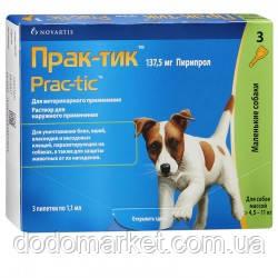 Прак-тик капли от блох и клещей для мелких собак от 4,5 до 11 кг