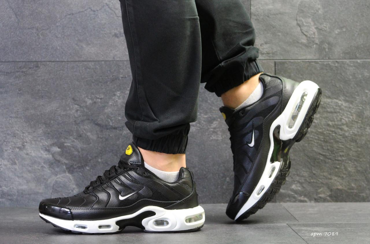 Кроссовки Nike Air Max Tn черные с белым (Реплика ААА+) - bonny- 48d76c3bd6104