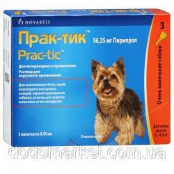 Прак-тик капли от блох и клещей для маленьких собак от 2 до 4,5 кг