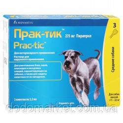 Прак-тик капли от блох и клещей для средних пород собак от 11 до 22 кг