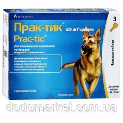 Прак-тик капли от блох и клещей для крупных собак от 22 до 50 кг