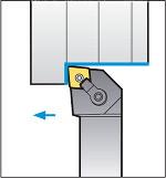 Схема обработки резцом MCGNR2020K12