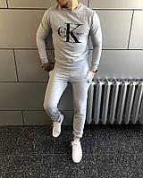 Костюм спортивный Calvin Klein Кельвин Кляйн серый весна - осень  (РЕПЛИКА)