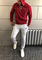 Костюм з капюшоном спортивний Філа Fila весна - осінь бордо сірі штани (РЕПЛІКА), фото 1