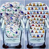 Двухсторонний чехол на стульчик для кормления Chicco Polly Magic, фото 9