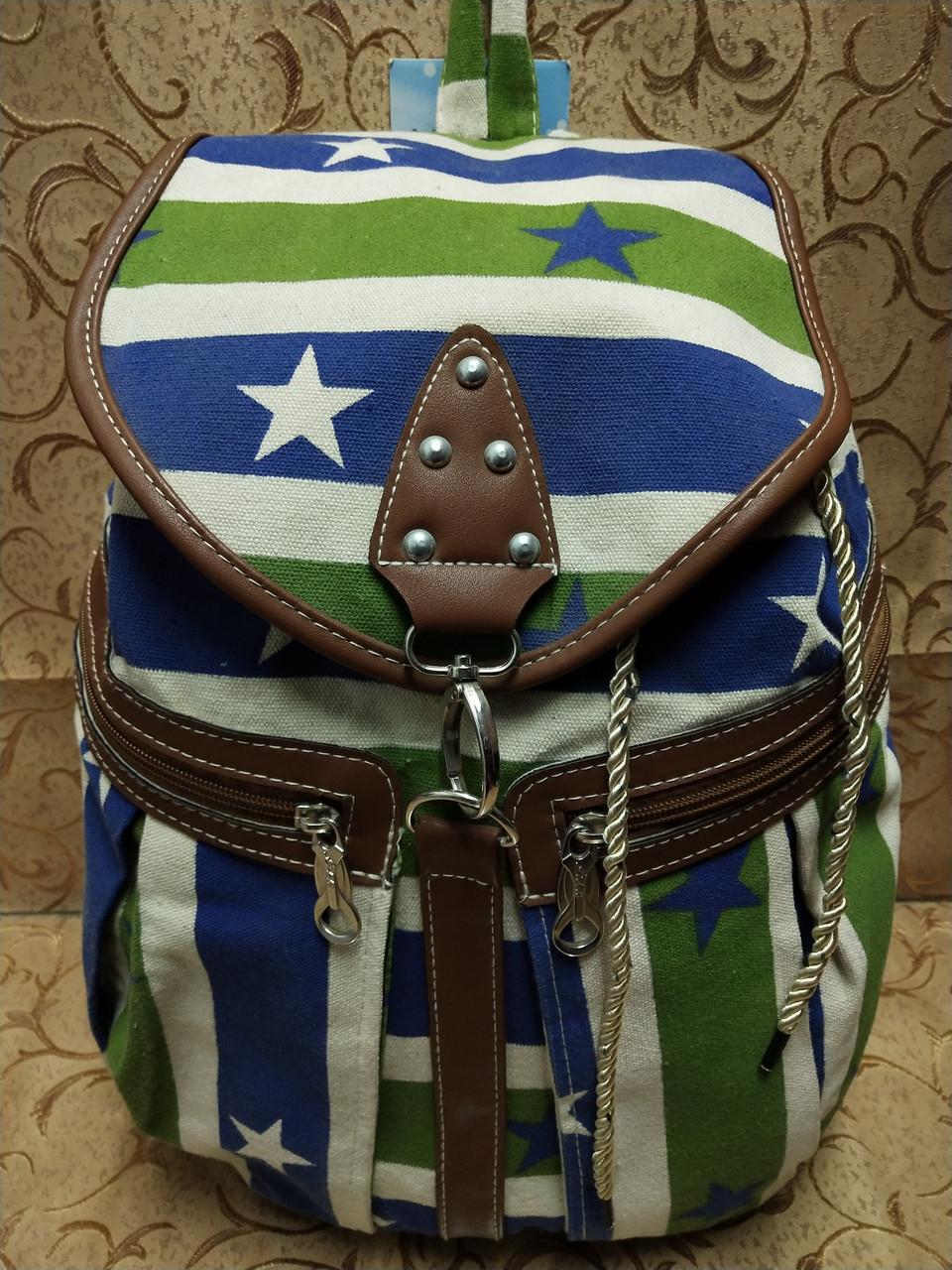 Рюкзак женская холст/Сделано в Китае(только оптом)