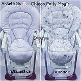 Двухсторонний чехол на стульчик для кормления Chicco Polly Magic, фото 3