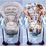 Двухсторонний чехол на стульчик для кормления Chicco Polly Magic, фото 7
