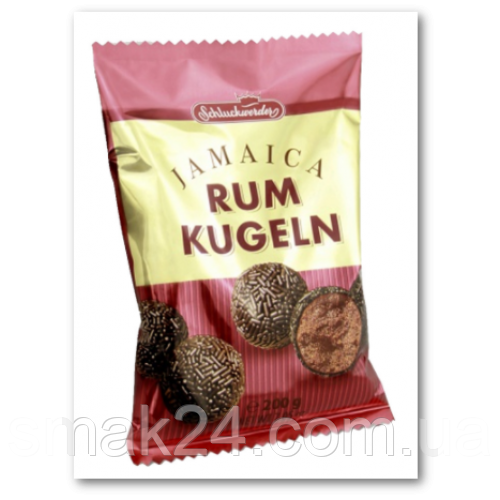 Конфеты ромовые шарики в шоколадной крошке Rum Kugeln Jamaica Schluckwerder Германия 200г