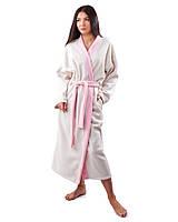 Длинный женский халат плюшевый (размеры S-XL)