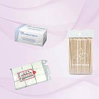 Безворсовые салфетки Special Nail +Апельсиновые палочки +Маски защитные Safe