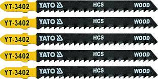 Полотно для электролобзика дерево 8TPI, L - 100 мм.Уп. 5 шт. - Yato