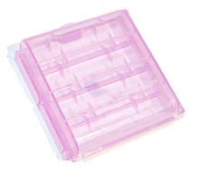 Кейс пластиковый универсальный для элементов AA 4-ех шт Purple