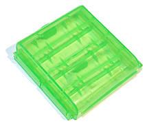 Кейс пластиковый универсальный для элементов AA 4-ех шт Green