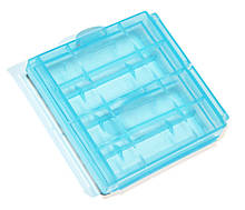 Кейс пластиковый универсальный для элементов AA 4-ех шт Blue
