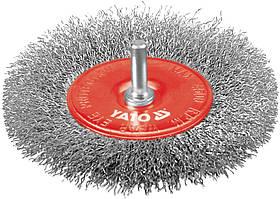 Дисковая Щетка 100 мм С Оправкой, нерж авеющая Проволока - Yato