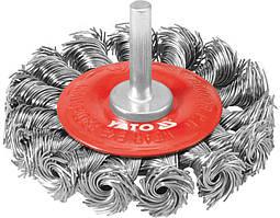 Щетка - крацовка круговая со шпинделем D - 75мм - Yato