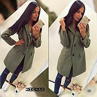 """Пальто женское кашемировое на пуговицах р. 46 (3цв) Серии """"ZigZag"""" купить оптом и в розницу в Одессе на 7км"""