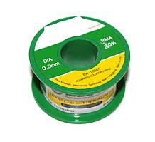 Припой Bakku BK10005 диаметр 0,5 мм состав: Sn 63% Pb 37% Flux 1.8% 50 гр