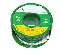 Припой Bakku BK10002 диаметр 0,3 мм состав: Sn 63% Pb 37% Flux 1.8% 50 гр