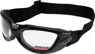 Очки Защитные прозрачные с регул эластичным пояском - Yato