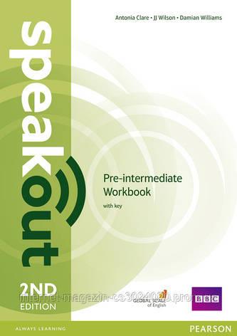 Speakout 2nd Edition Pre-intermediate Workbook with key ISBN: 9781447976974, фото 2