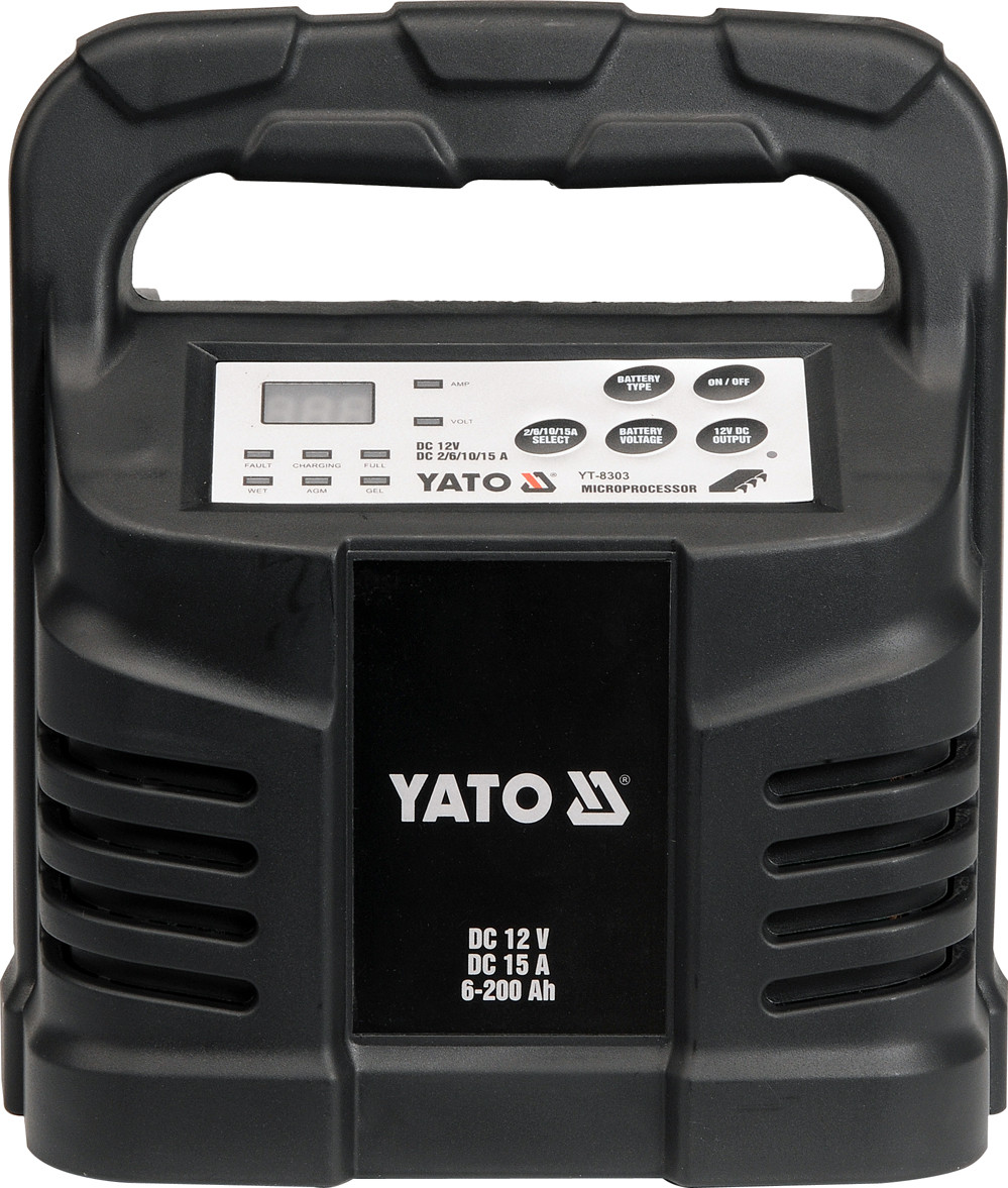Зарядное устройство AGM, WET - 12V, 15А, 6-200Ah - Yato