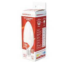 Лампа світлодіодна E14 6W 4000K C37 Neomax 330 lm 220V 6C-3