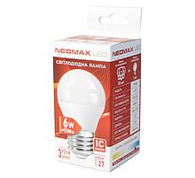 Лампа світлодіодна E27 6W 6000K G45 Neomax 320 lm 220V 6B-6