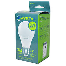 Лампа світлодіодна E27 8W 3000K A60 Crystal 850 lm 220V A60-020