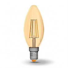 Лампа Filament Videx LED E14 4W 2200K,клас енергоспоживання - А+,bronze glass VL-C37FA-04142