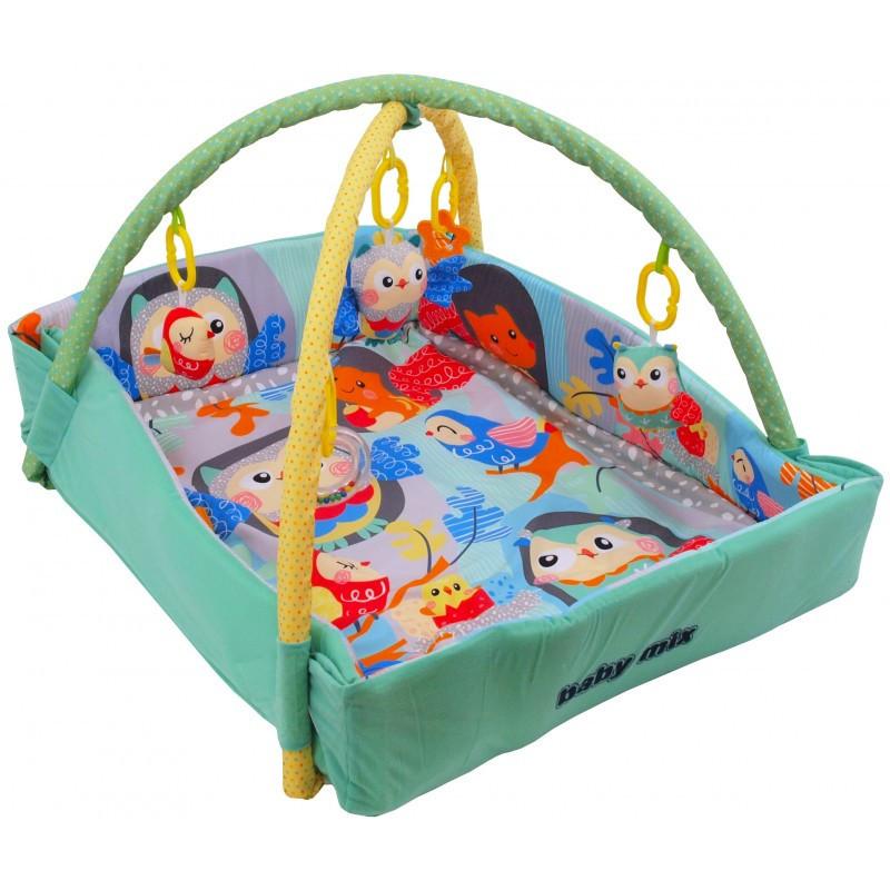 Детский игровой развивающий коврик Baby Mix TK/3261CE-DA00 Веселые совы