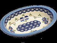 Блюдо овальное с ушками маленькое Larkspur, фото 1