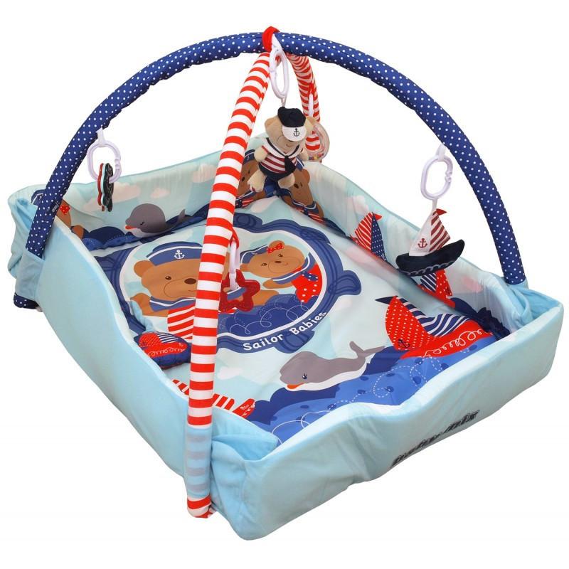 Детский игровой развивающий коврик Baby Mix TK/3406С-62104 Моряки
