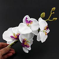 Красивая орхидея-заколка белая от студии LadyStyle.Biz, фото 1