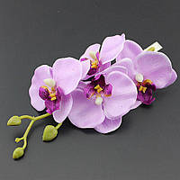 Красивая орхидея-заколка сиреневая от студии LadyStyle.Biz, фото 1