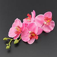 Красивая орхидея-заколка коралловая от студии LadyStyle.Biz, фото 1