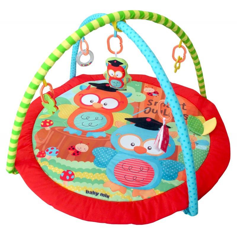 Детский игровой развивающий коврик Baby Mix TK/3429PP Совы в школе