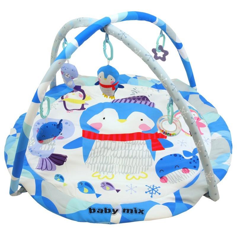 Детский игровой развивающий коврик Baby Mix TK/3434PP Пингвин