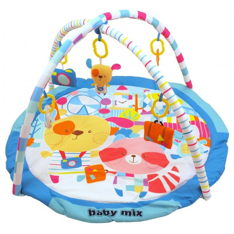 Детский игровой развивающий коврик Baby Mix TK/3168C Кролики