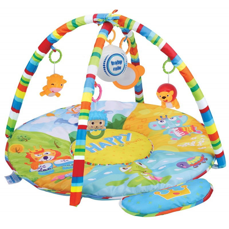 Детский музыкальный игровой развивающий коврик Baby Mix HS-789-13 Сафари