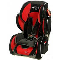 Автокресло BabySafe Sport Premium красный, гр.1-2-3,(9мес-12лет)