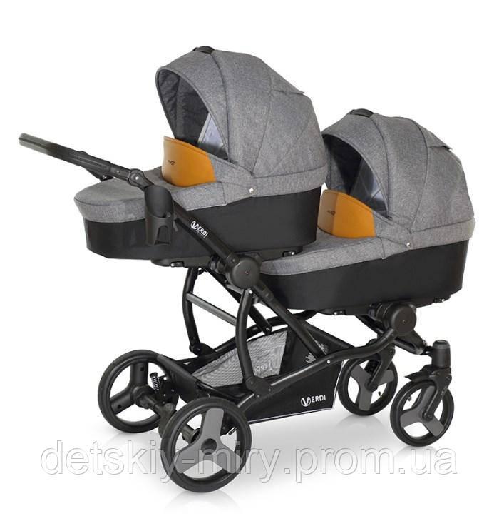 Детская универсальная коляска для двойни 2 в 1 Verdi For 2 - фото 1