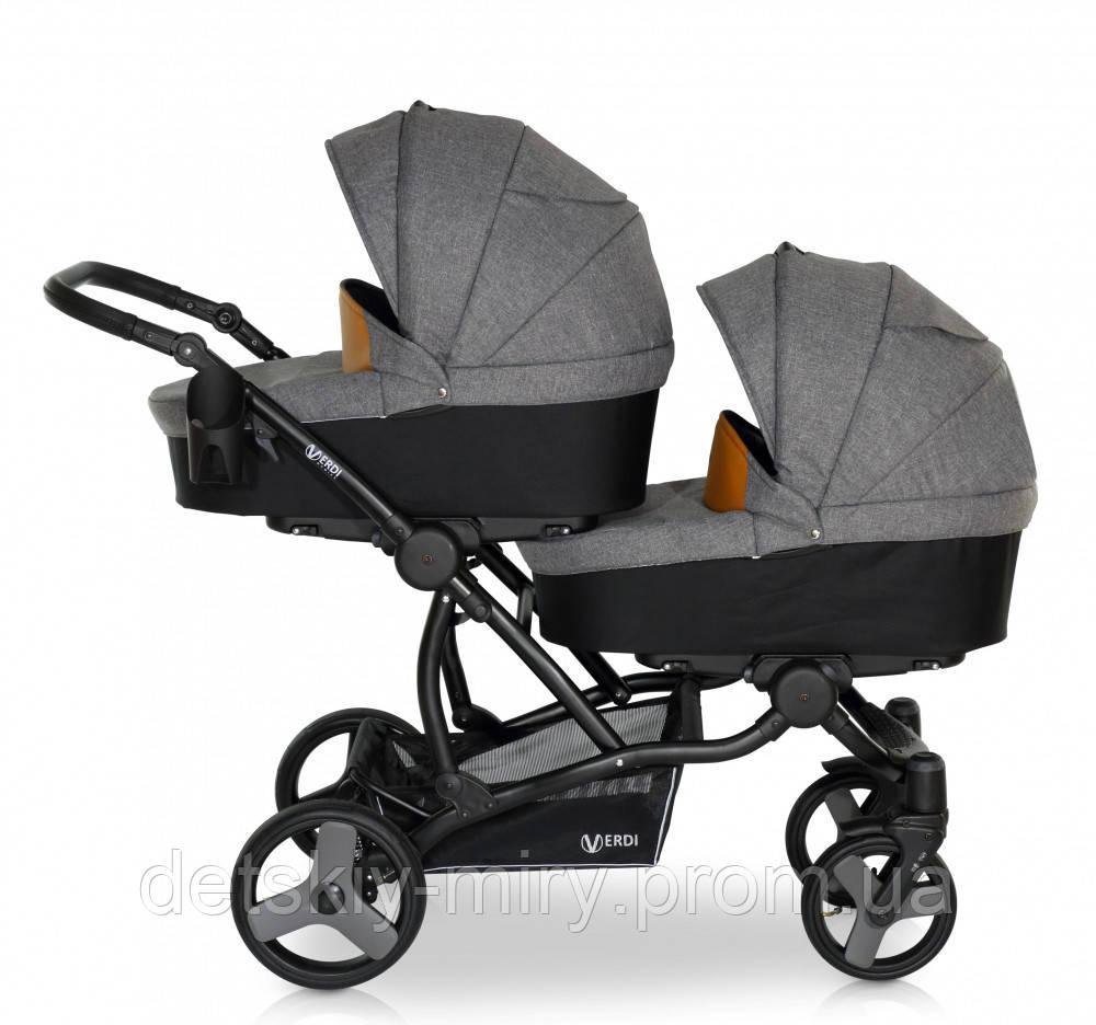 Детская универсальная коляска для двойни 2 в 1 Verdi For 2 - фото 2