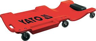 Лежак для ремонта платформа на 6 колес, L - 1 м - Yato