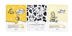 Набор из 3 тканевых масок ESFOLIO Pure Skin Milk, Pearls & Honey Essence (3 маски), 69 мл